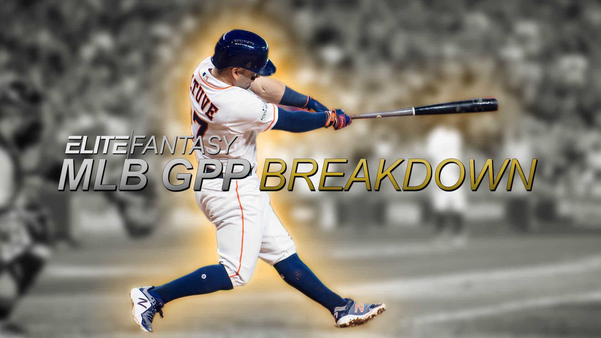 DraftCheat's MLB GPP Breakdown - 4/22